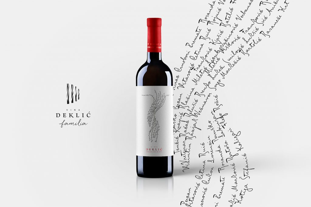 New Deklić familia wine